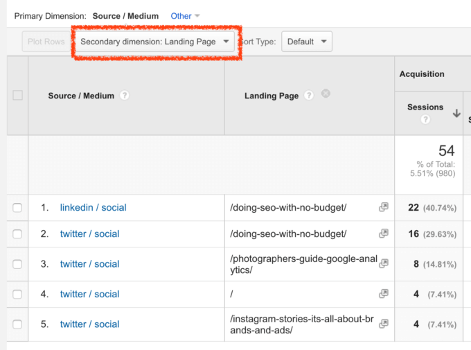 Social campaigns in Google Analytics