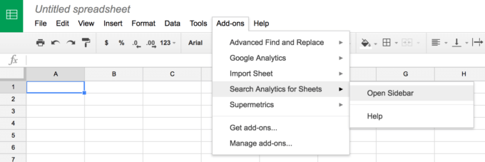 Drive add-on for Search Analytics